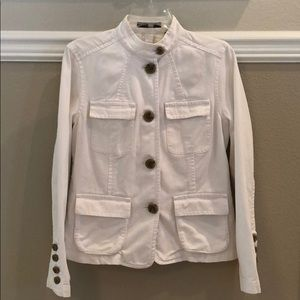 Liz Claiborne White Denim Jacket